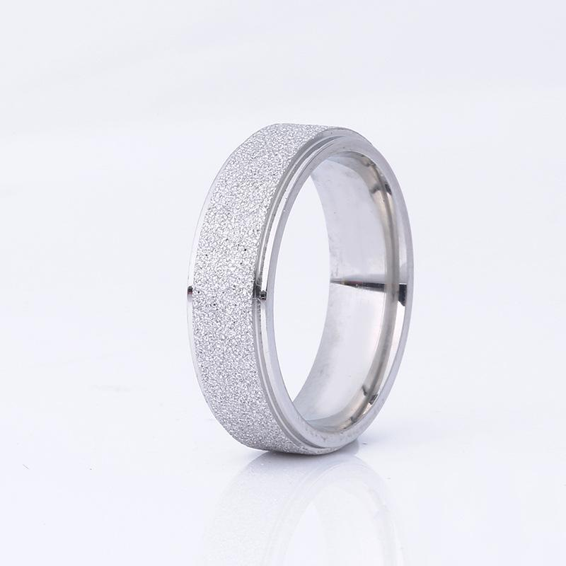 Glittery Stainless Steel Ring