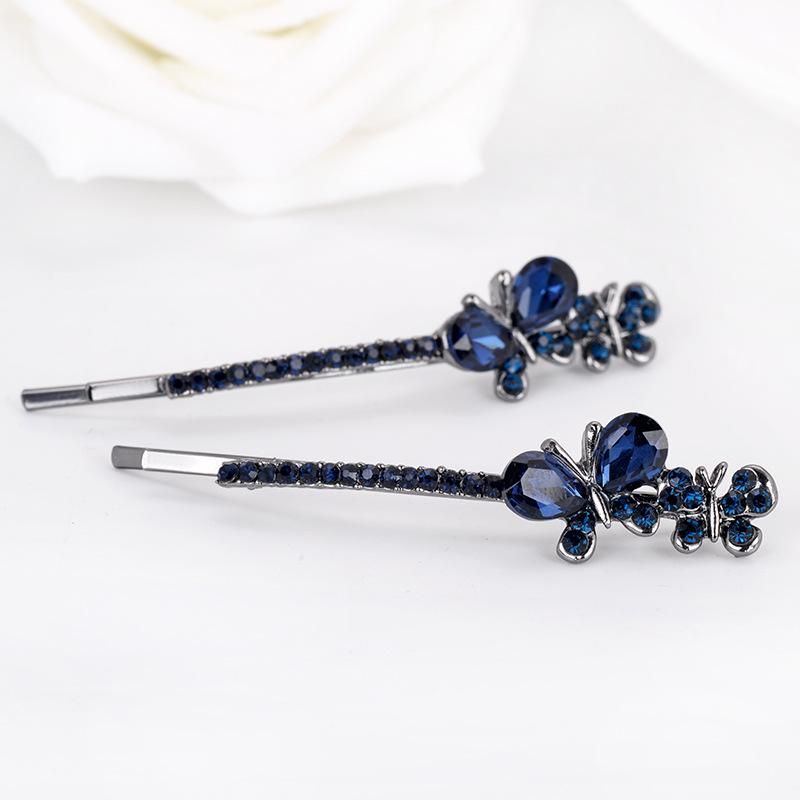 Crystal Mini Butterfly Hairpin