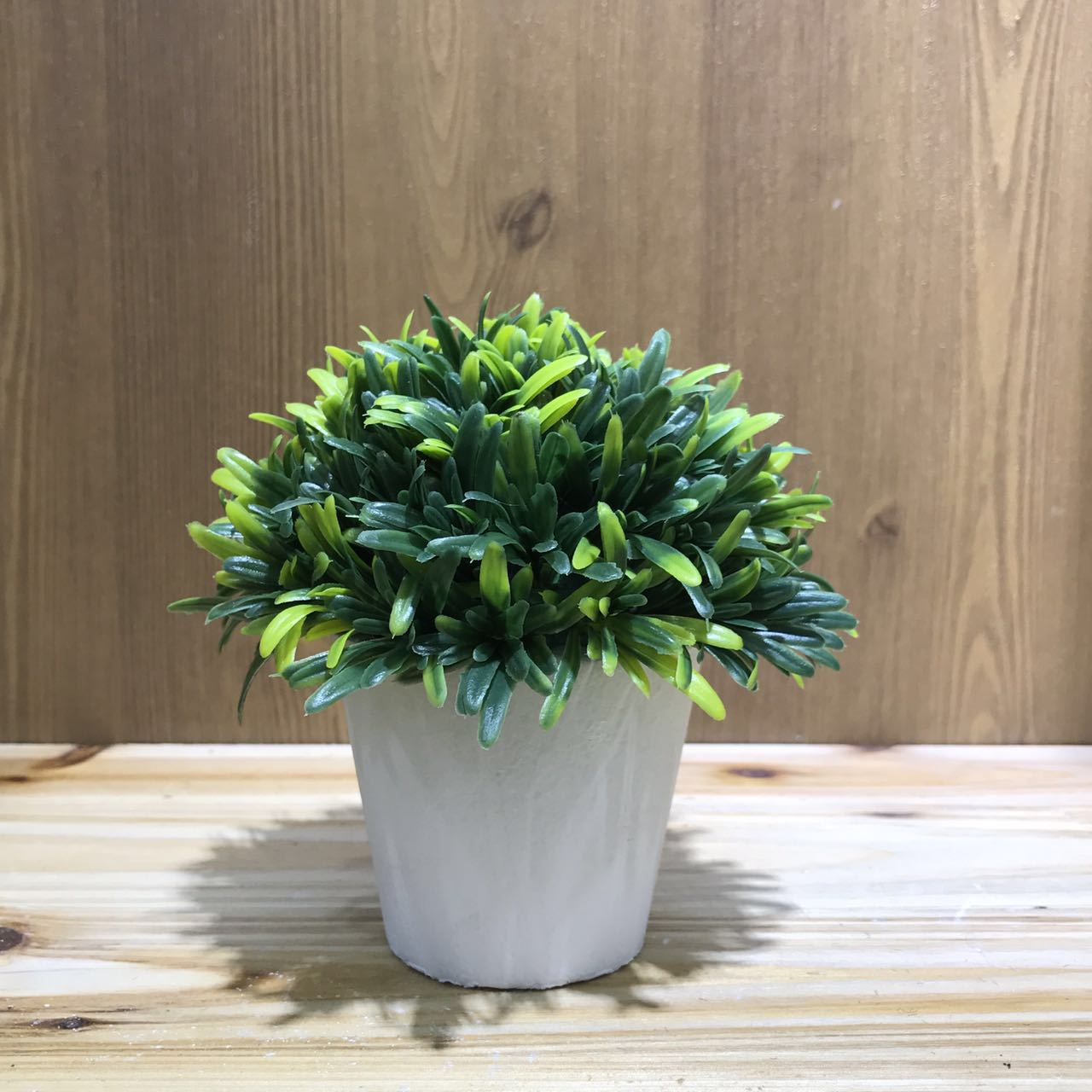 Fresh Round Green Artificial Plant for Table Office Decorations