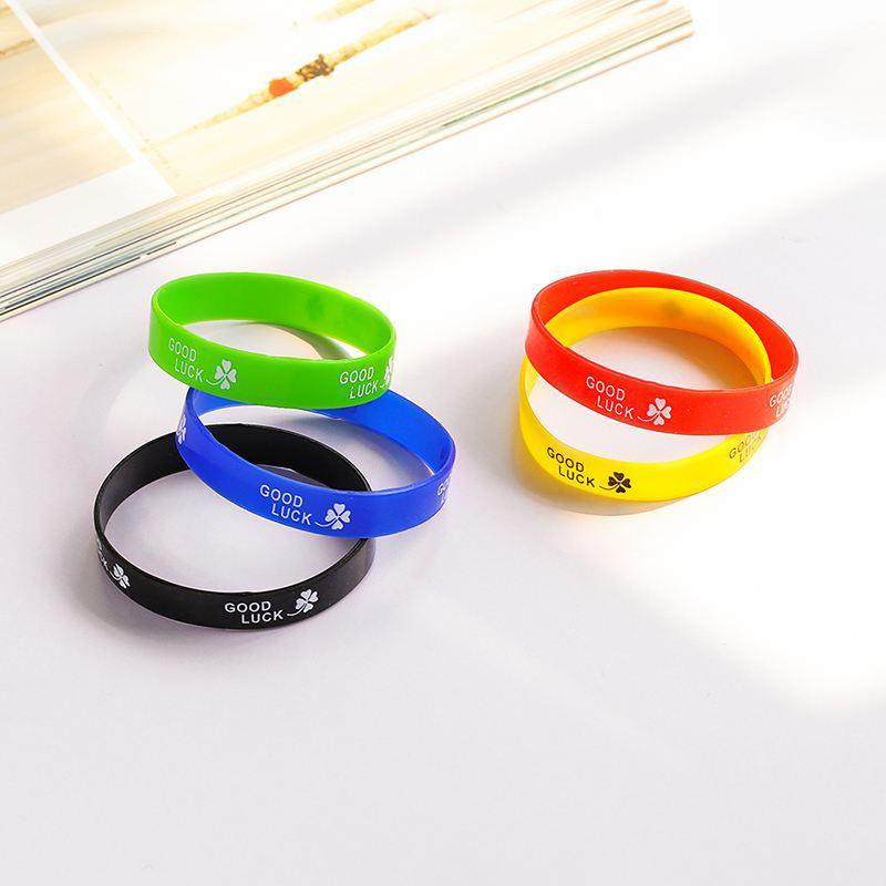 Good Luck Clover Silicone Bracelet