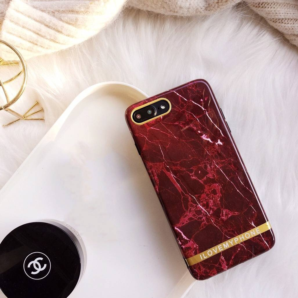 Fiery Marble Phone Case