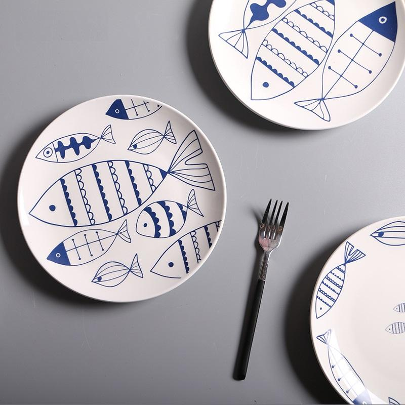 Various Fishes Designed Plate