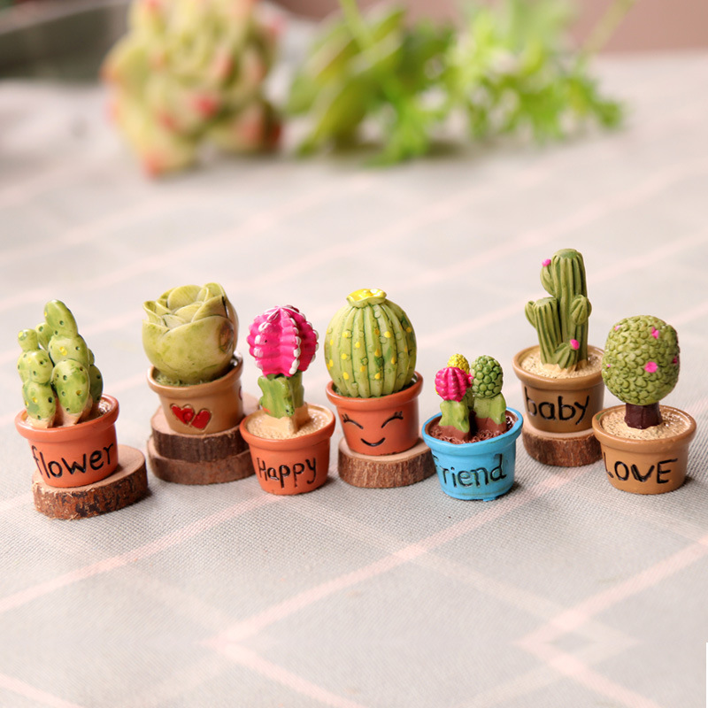 Little Potted Artificial Plants for Living Room
