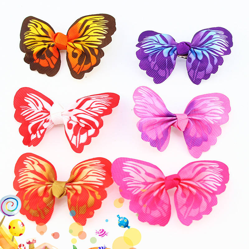 Pretty Alligator Clip with Butterfly Bow Design for Dressing-Up Kids