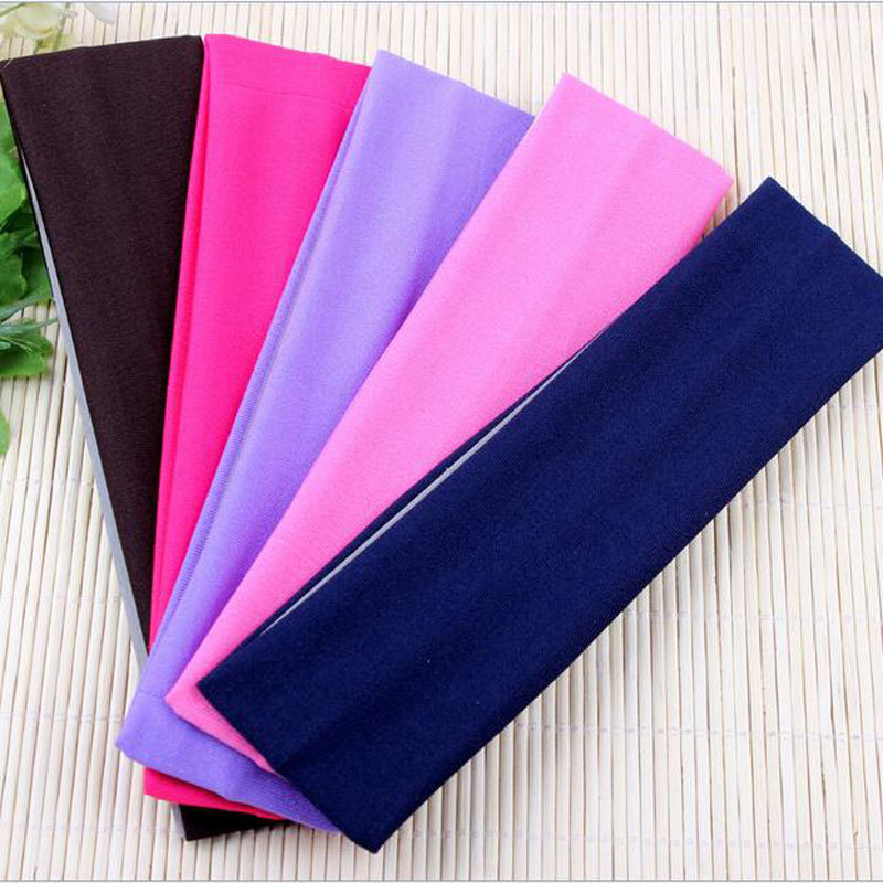 Bright Colored Cloth Wraparound Headbands for Exercises