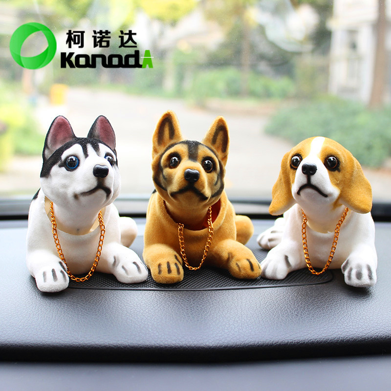Cute Shaking Head Dog Car Decoration for Impatient People Fun Time