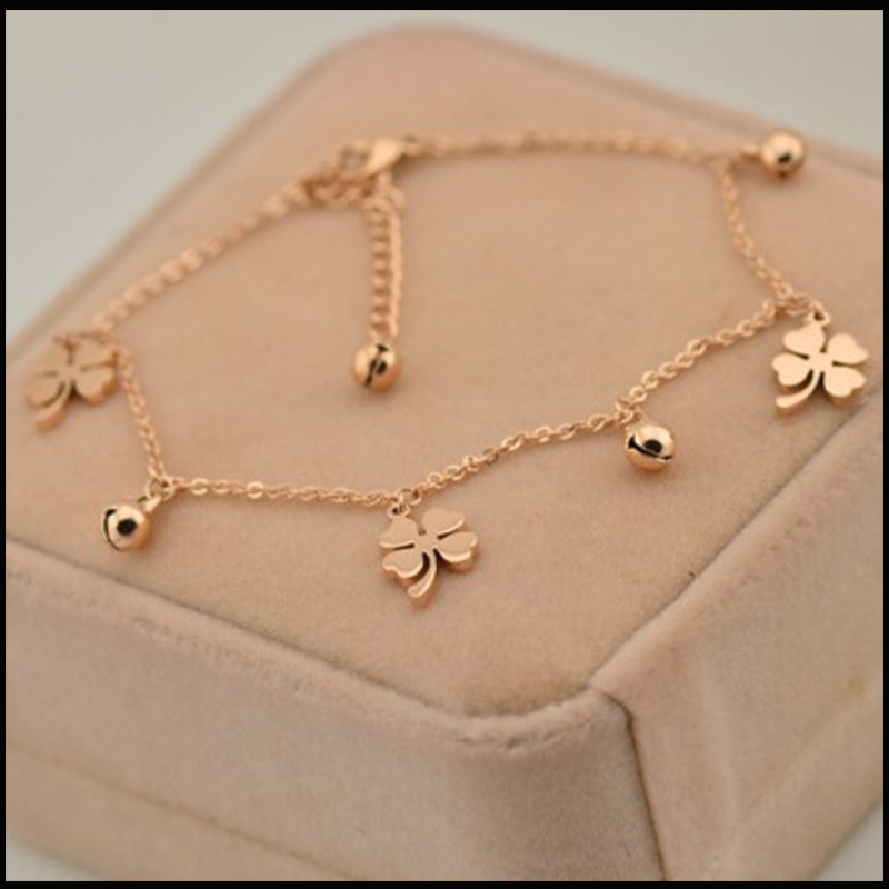 Lucky Clover and Bell Anklet