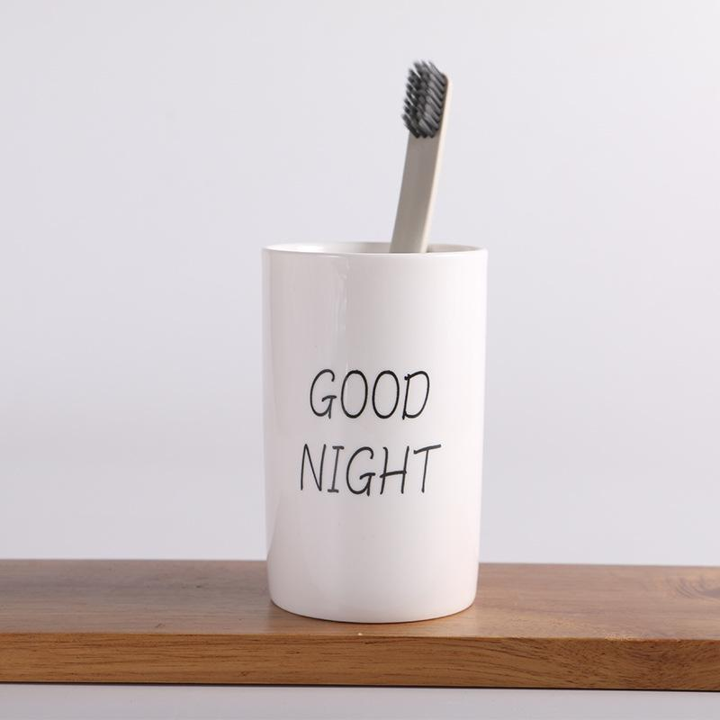 """""""Good Morning"""" Toothbrush Cup"""