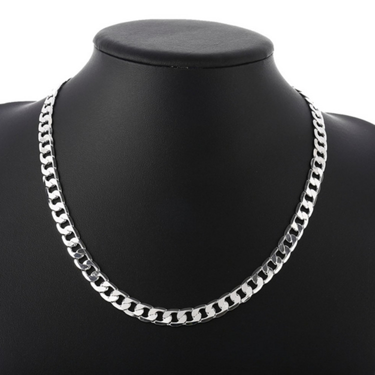 Awe-Inspiring Flat Curb Chain Necklace for Cool Aesthetic Fashion