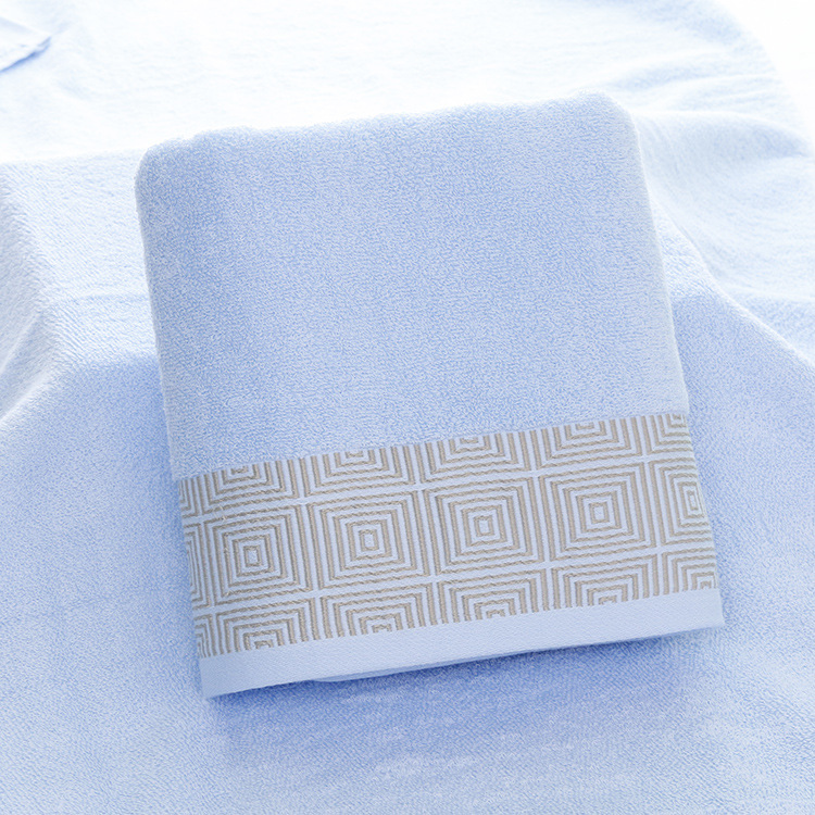 Classic Cotton Bathroom Towel for Summer Outings