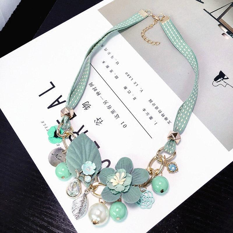 Fancy Flowers Charm Necklace