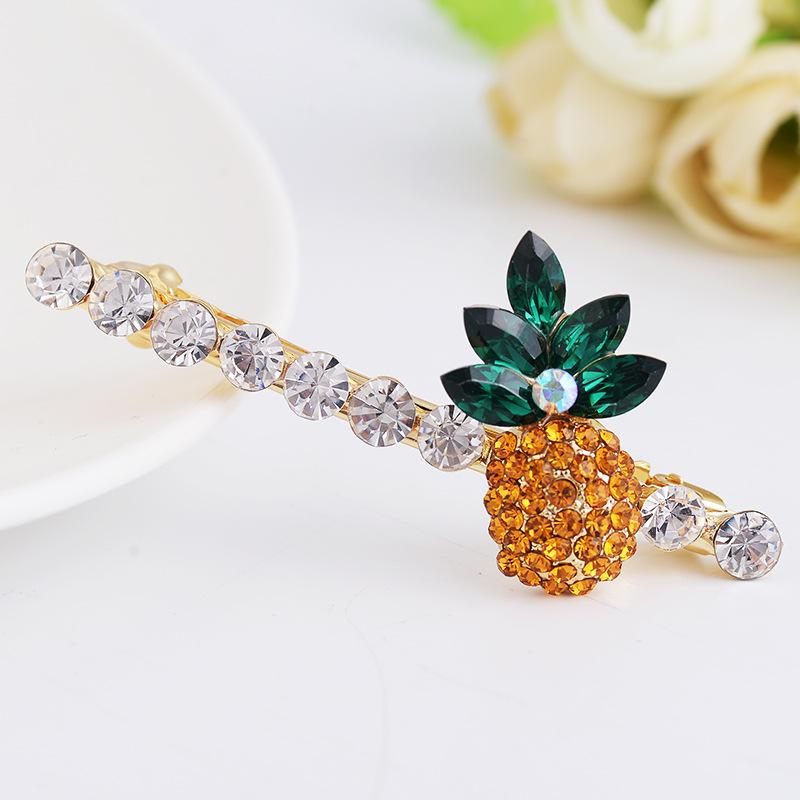 Crystals Pineapple Hair Accessories