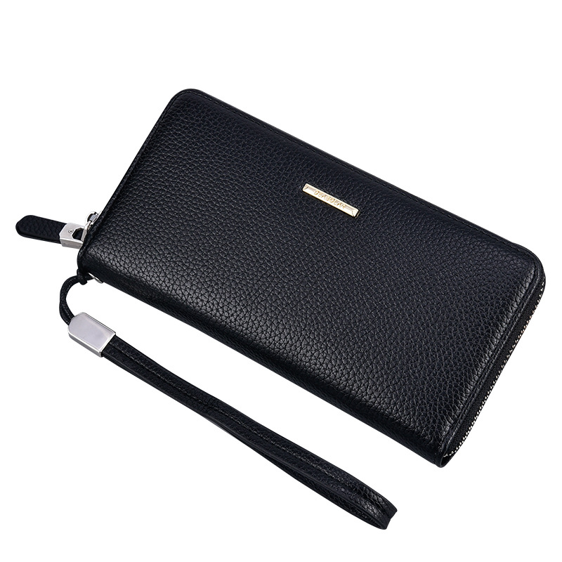 Classic Faux Leather Long Zipper Wallet for Retro Style