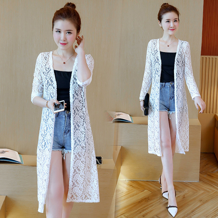 Floral Embroidered Cardigan for Summer Fashion