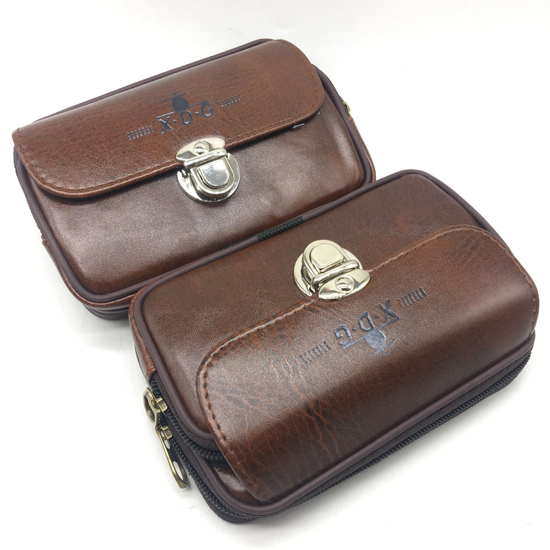 Vintage Rustic PU Leather Cellphone Bag with Double Latch for Birthday Presents