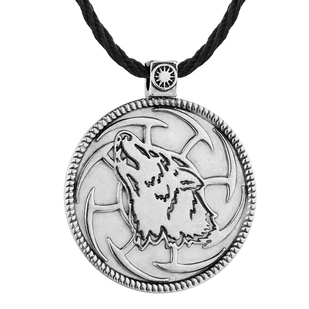 Fine Structural Howling Wolf Necklace for Classic Indie Ensembles