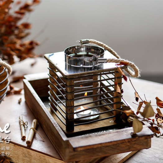 Aesthetic Wooden Candle Holder for Creative Photoshoots