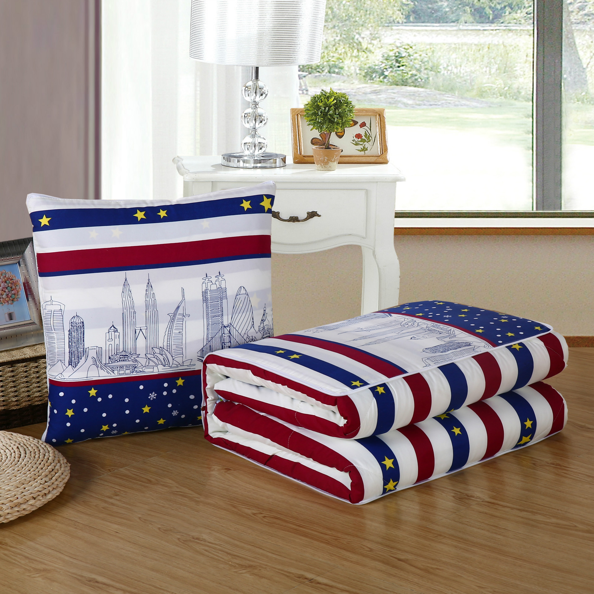 Dual Purpose Blanket and Pillow for Sleeping Quarters