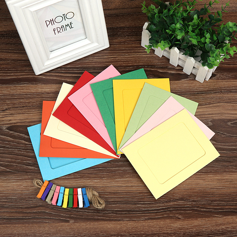 Colorful Paper Picture Frame (10 Pieces/Set)