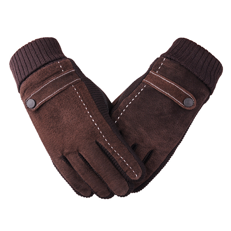 Thick and Warm Pigskin Gloves