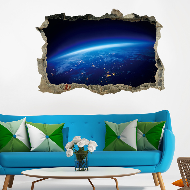 3D Outer Space Wall Sticker for Bedroom