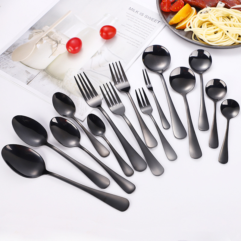 Bernice Black Spoons and Forks