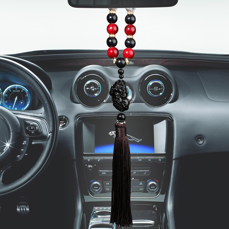 Glass Bead Safety Car Charm for Rearview Mirrors