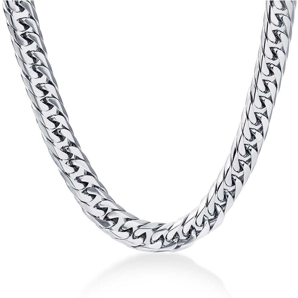 Grandiose Curb Chain Necklace for Flashy Hip-Hop Aesthetics