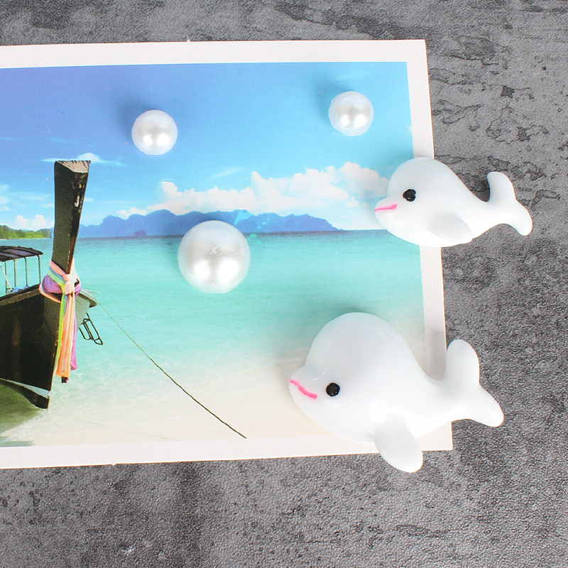 White Whale with Bubbles Decorative Stickers for Home