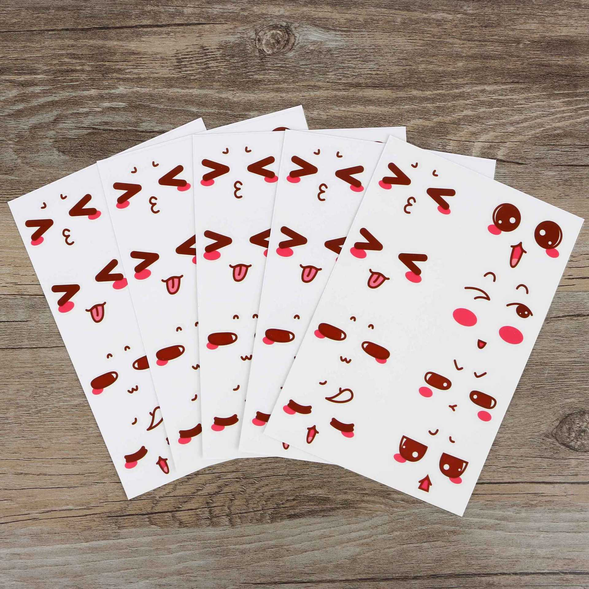 Cute Cartoon Emotion Stickers for School and Office Use