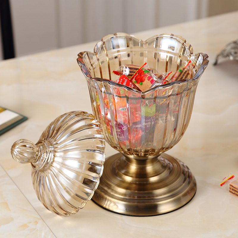 Semi-Transparent Glass Goblets for Candies