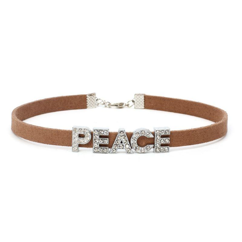 PEACE QUEEN Velvet Choker Necklace