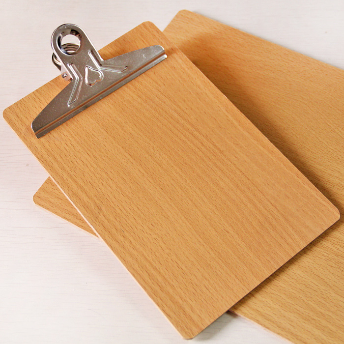 Classic Hanging Wooden Clipboard for Office Memo