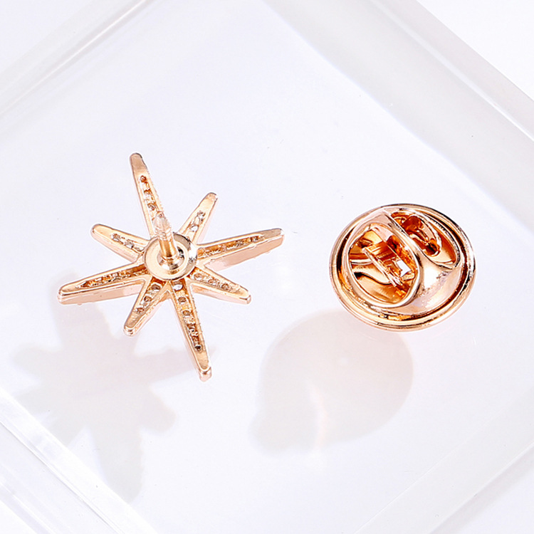 Preppy Inlaid Crystal Brooch for Special Events