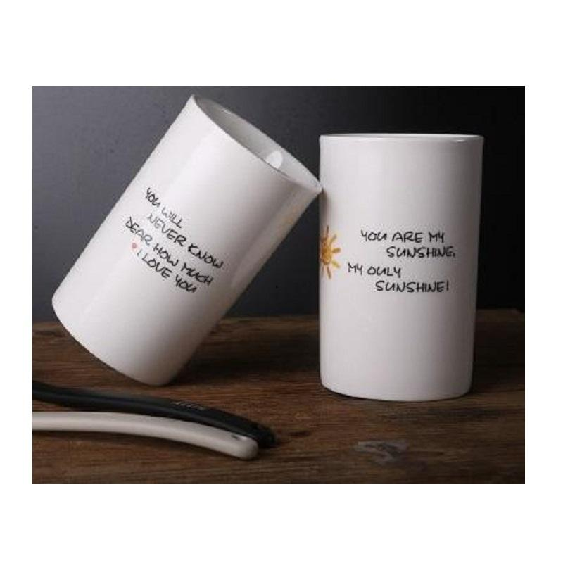 """""""You are My Sunshine"""" Couple Toothbrush Cup Holder"""