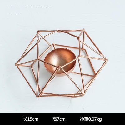 Geometric Metal Candle Holder for Minimalist Home Décor Inspiration