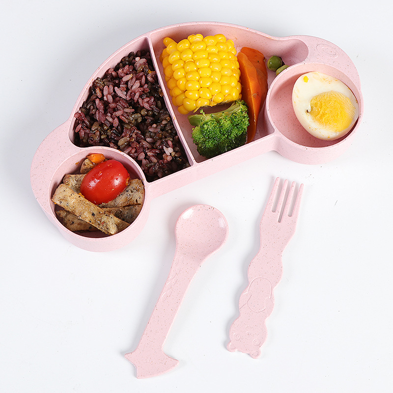 Car Shaped Four-Compartment Lunch Box for Adorable Food Storage
