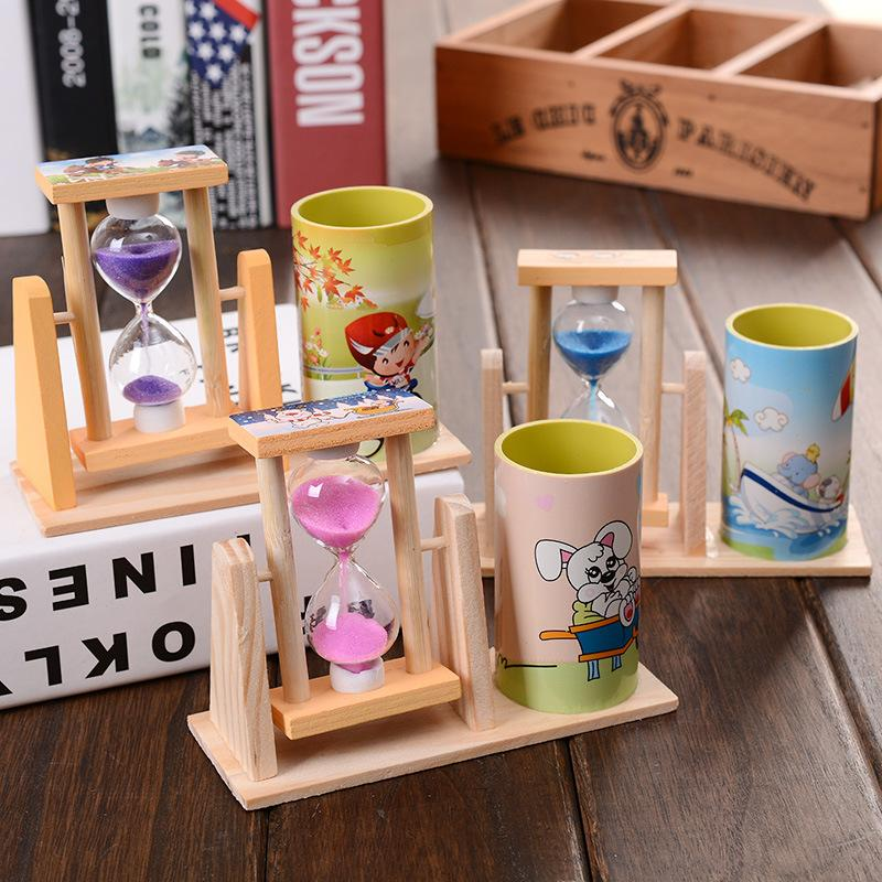 Rotating Hourglass with Pen Holder