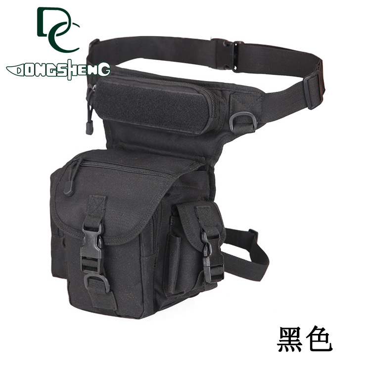 Tactical Multi-Compartment Leg Bag for Military Officers