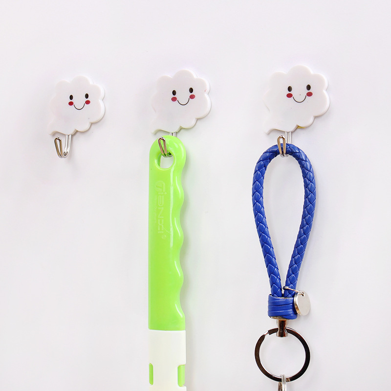 Cute Smiling Cloud Hook Adhesive for Holding Accessories