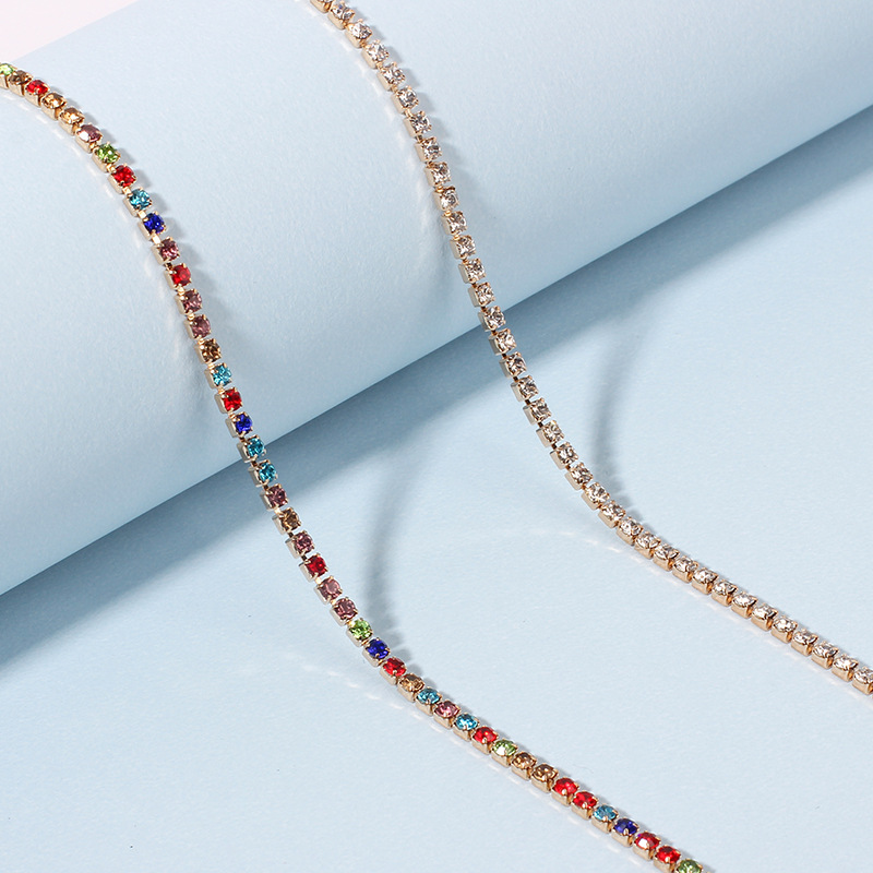 Flavia Faux Crystal Anklet