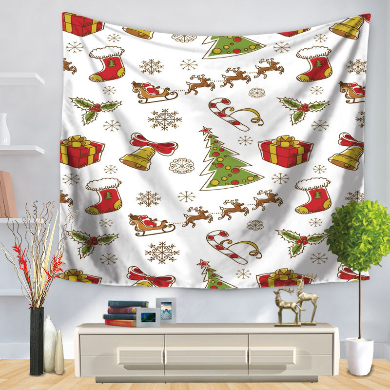 Adorable Christmas Concept Tapestry for Occasional Living Room Decoration