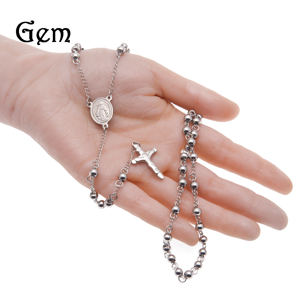 Light and Stainless Steel Bead Rosary for Everyday Use