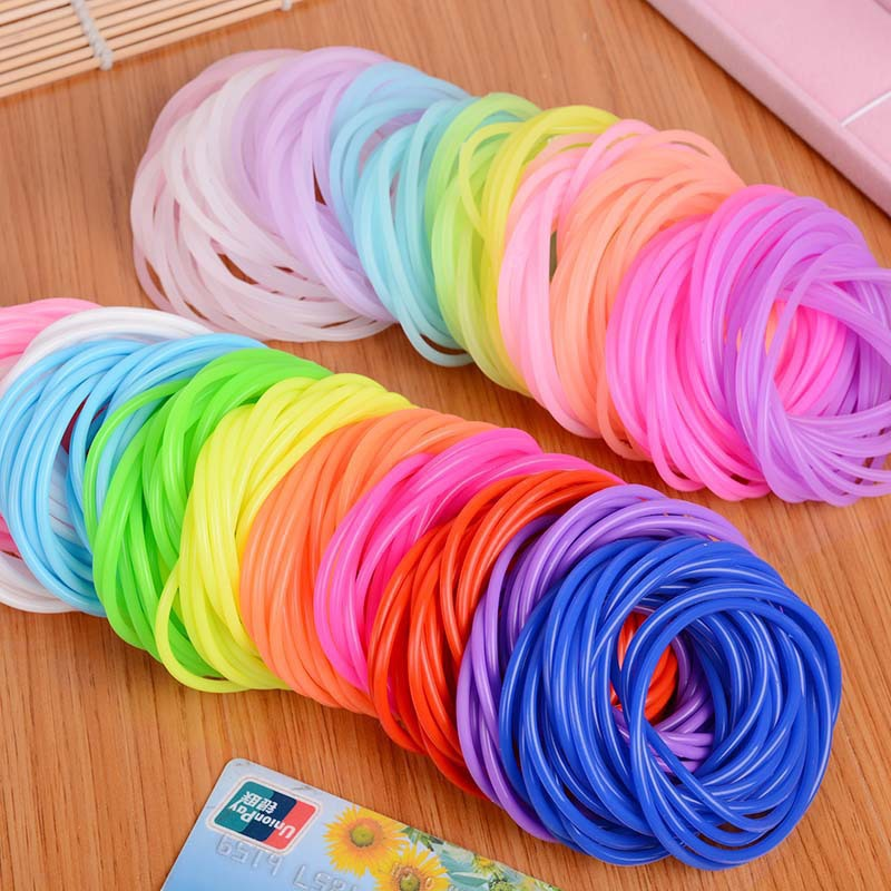 Vibrant Colored Silicone Thin Bracelet for Kids Accessories