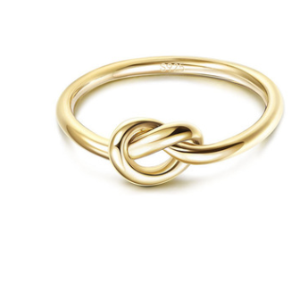 Delicate Knotted Ring