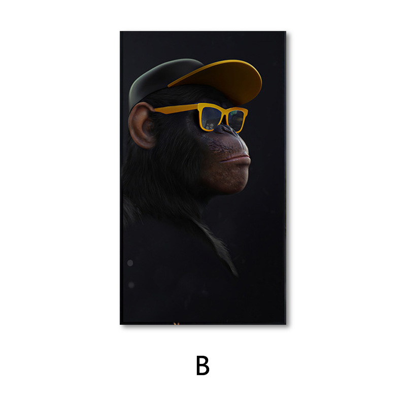 Extremely Cool Three-Dimensional Orangutan Wall Art for Hip-Hop Vibe Home Styling Ideas