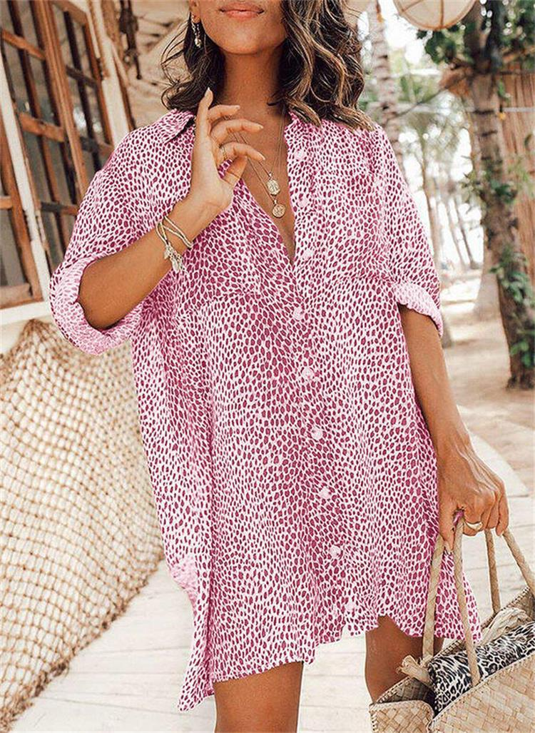 Leopard Print Button Up Dress for Easy Style Choice