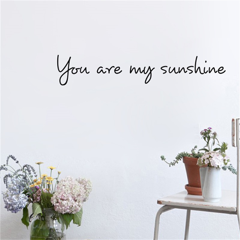 You Are My Sunshine Nordic Wall Stickers for Cafe Decorations