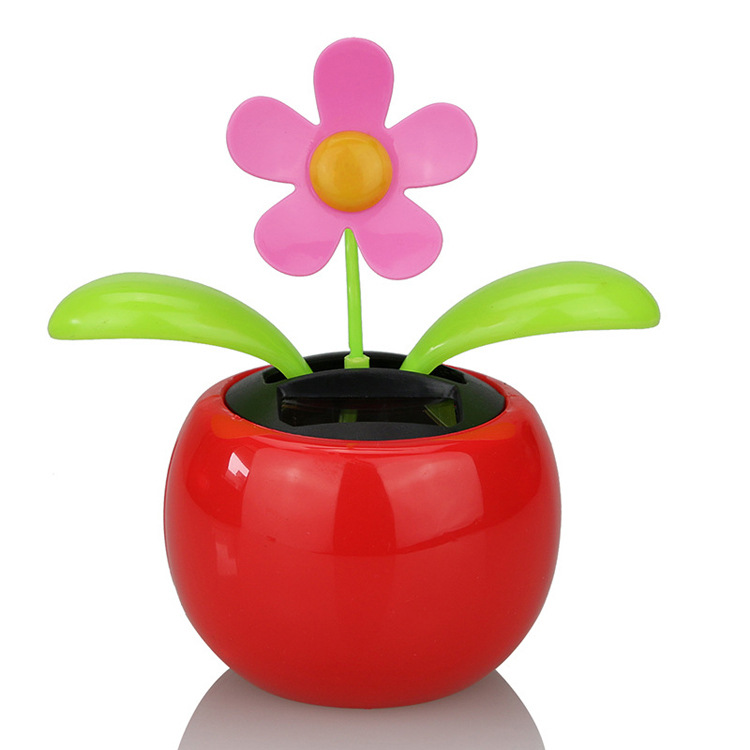 Adorable Squiggly Flowers with Vase for Car Dashboard