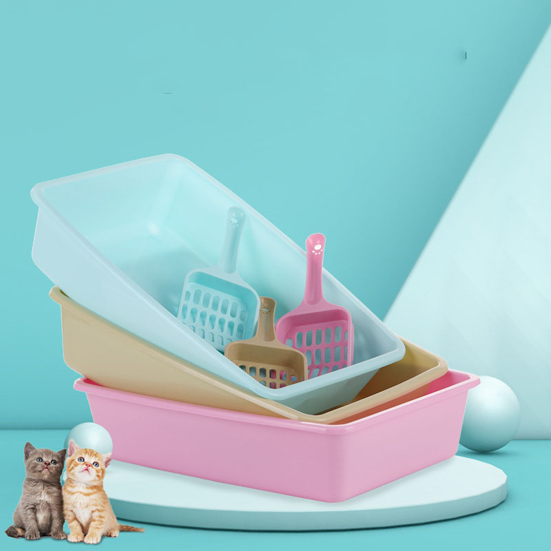 Printed Pastel Cat Litter Box for Training Cats